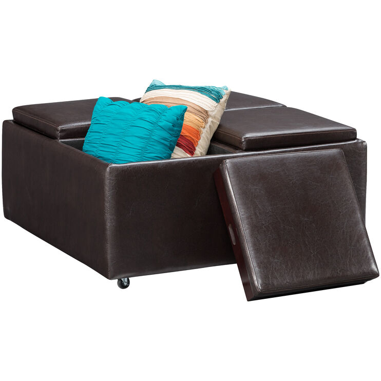 Bishop Brown Storage Cocktail Ottoman