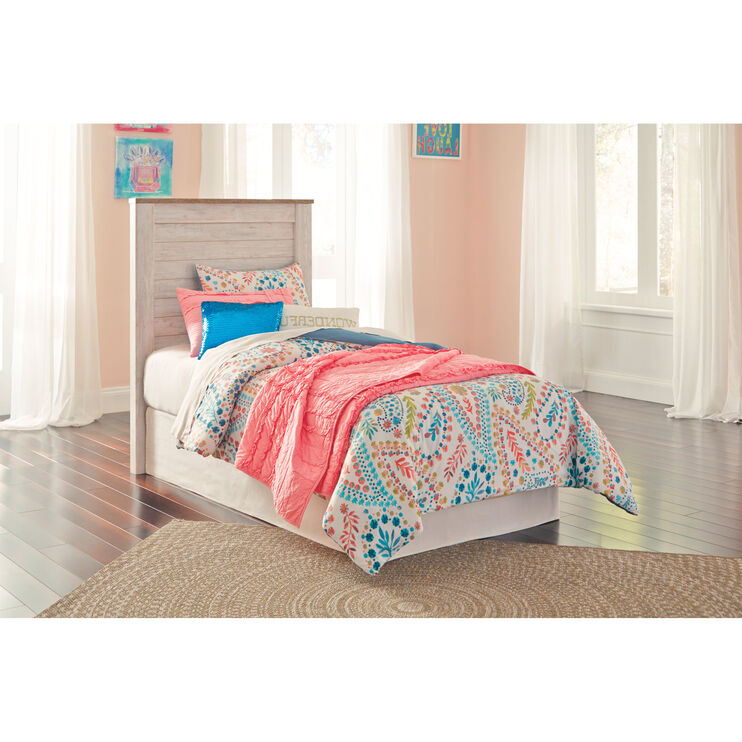 Willowton Whitewash Twin Bed