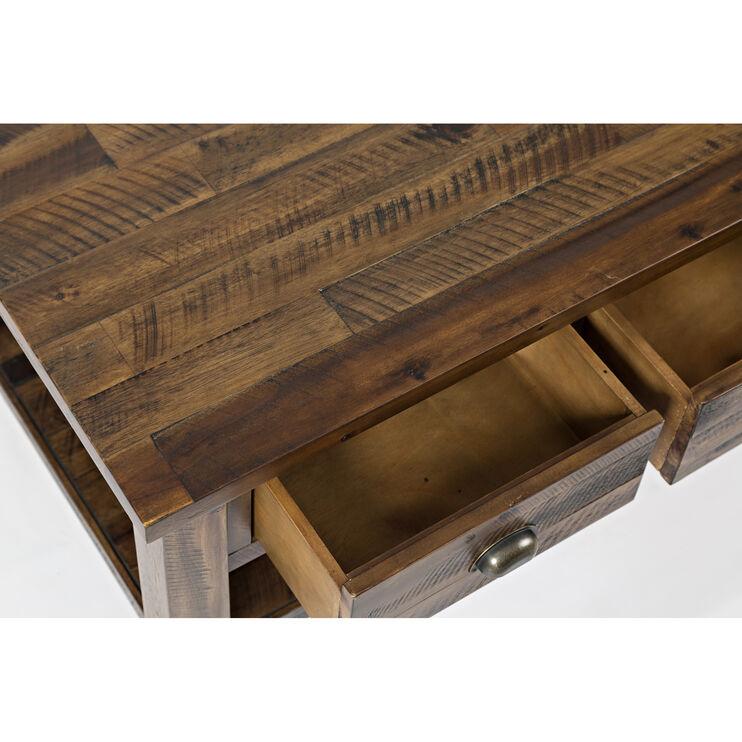 Artisans Craft Brown Cocktail Table