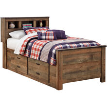 Trinell Brown Twin Captains Bed