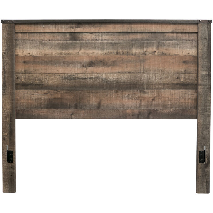 Slumberland Furniture | Trinell Rustic Plank Queen Panel ...