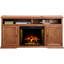 Chambers Golden Oak 72 Inch Hiboy Fireplace Console