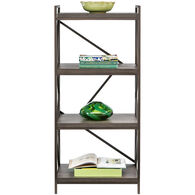 Basel 4 Shelf Bookcase