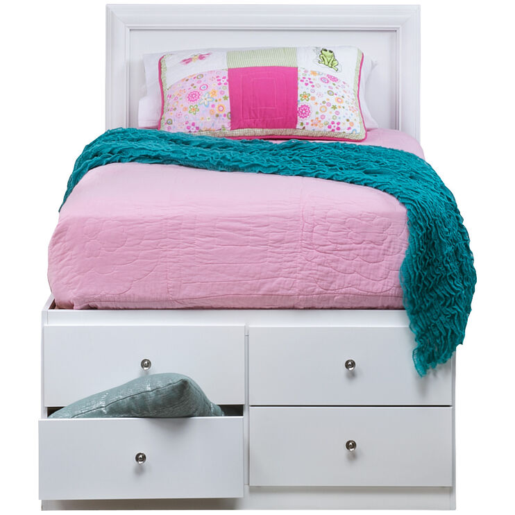Gilbert White Twin Storage Bed