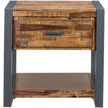 Loftworks Distressed Brown 1 Drawer End Table