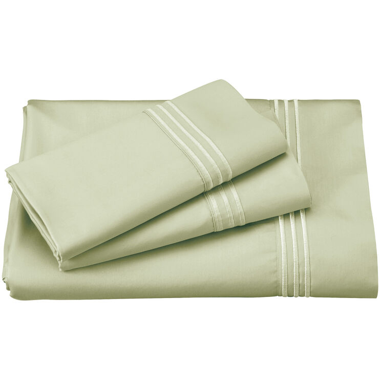 Elements Sage Green Queen Celliant Sheet Set