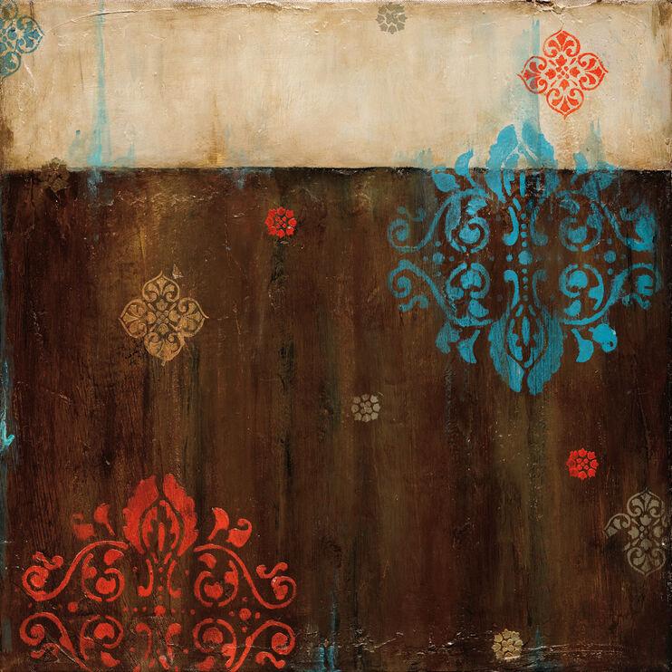 Damask Patterns II Framed Art