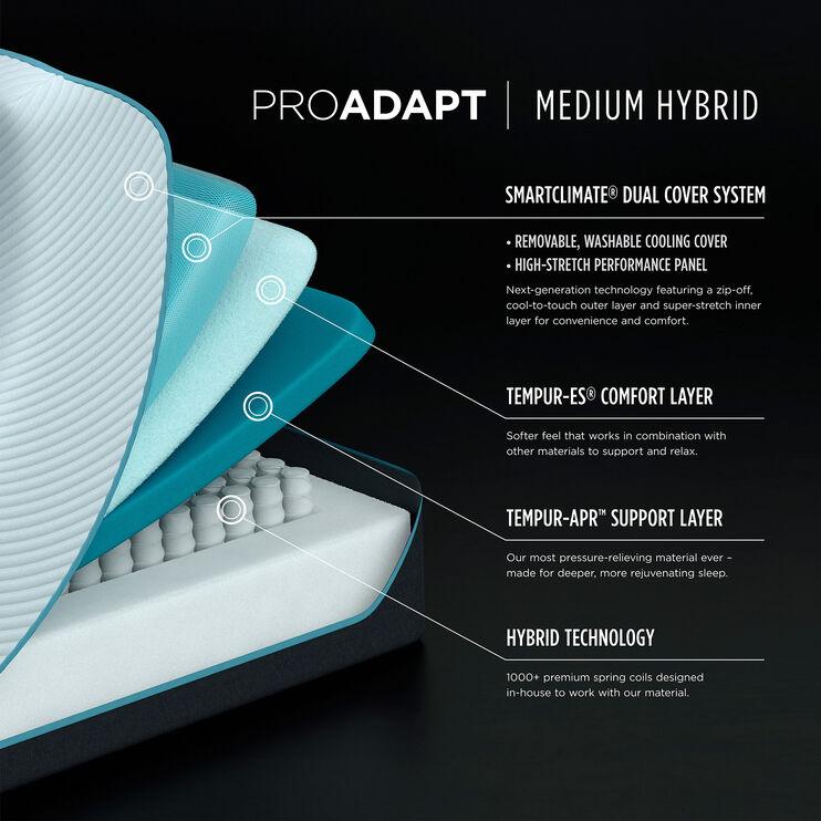 Tempur-Pedic Pro Adapt Medium Hybrid King Mattress