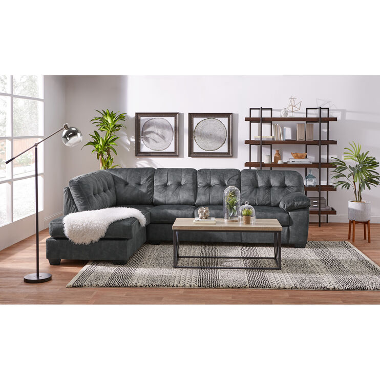 Slumberland Furniture Bellows Brown Left Chaise Sectional