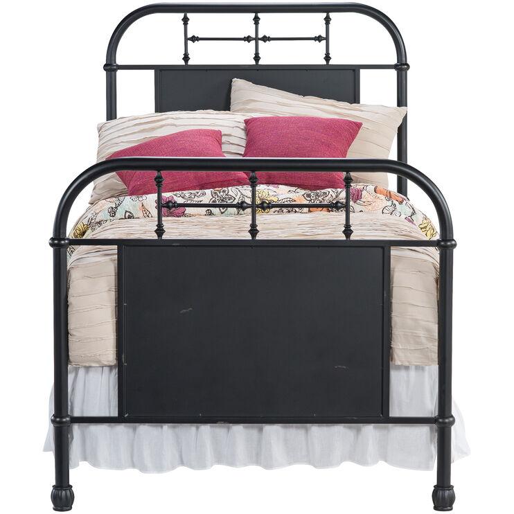 Vintage Black Twin Bed
