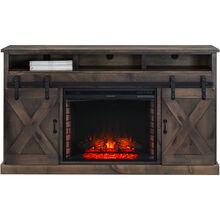 Farmhouse Barnwood Fireplace Console