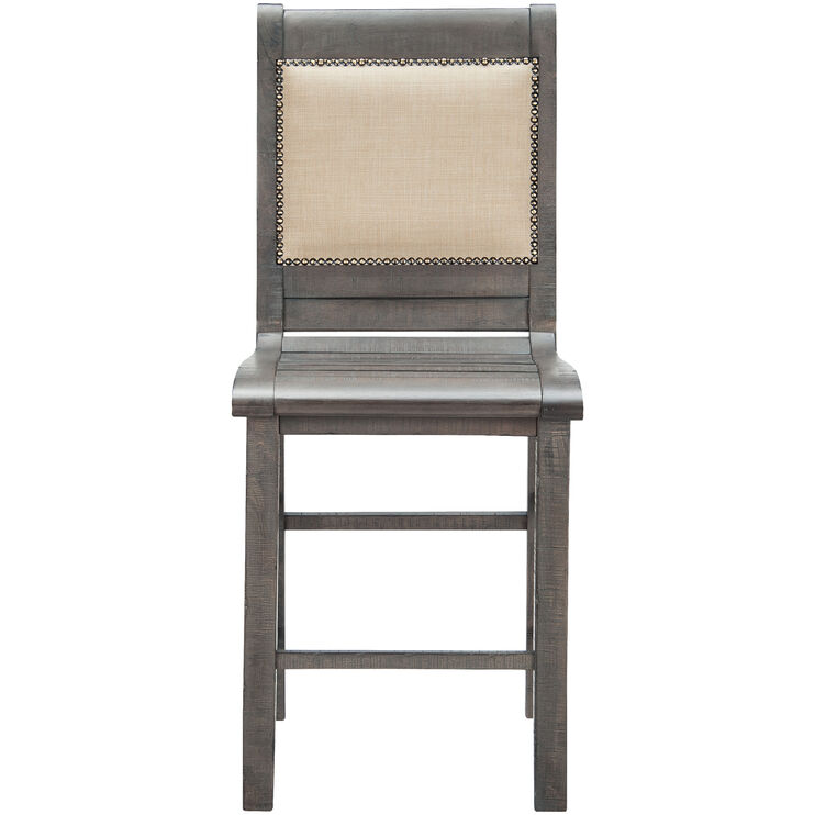 Willow Gray Counter Upholstered Chair