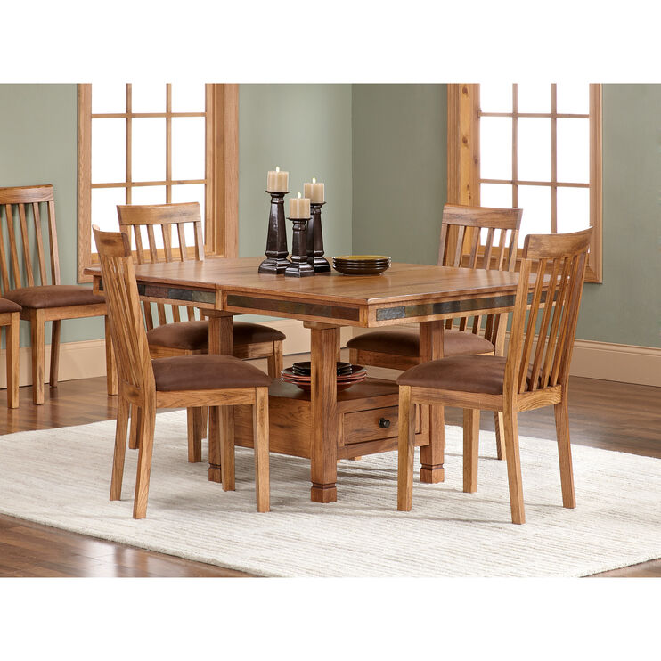 Slumberland Furniture Sedona Rustic Oak 5pc Dining Set