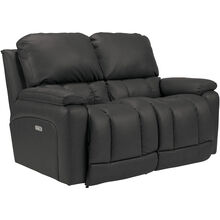 Greyson Charcoal Power Reclining Loveseat