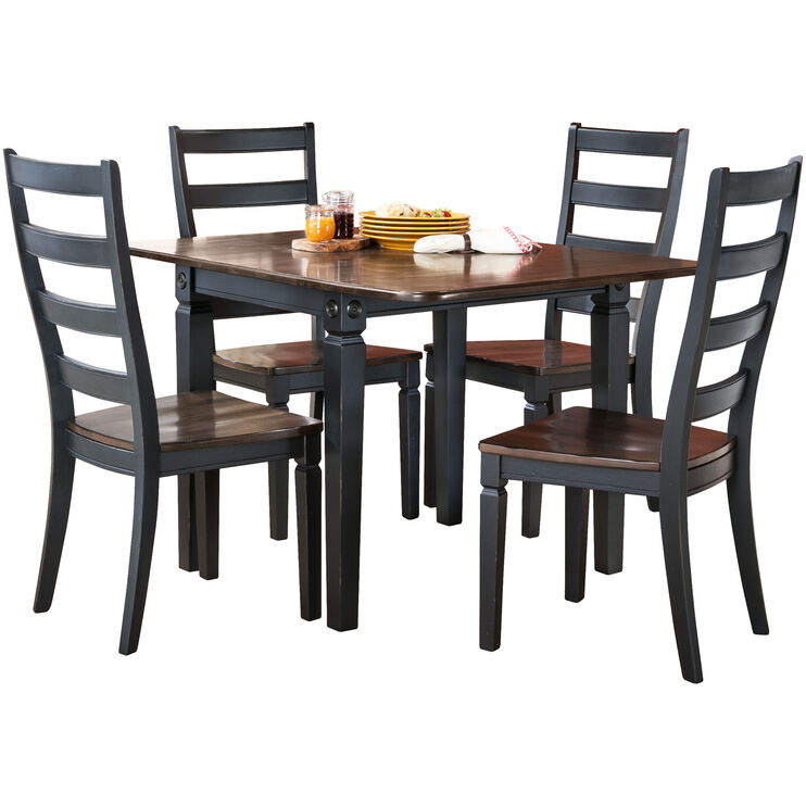 Glennwood 5 Piece Black Dining Set