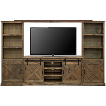 Farmhouse Barnwood 4 Piece Media Center