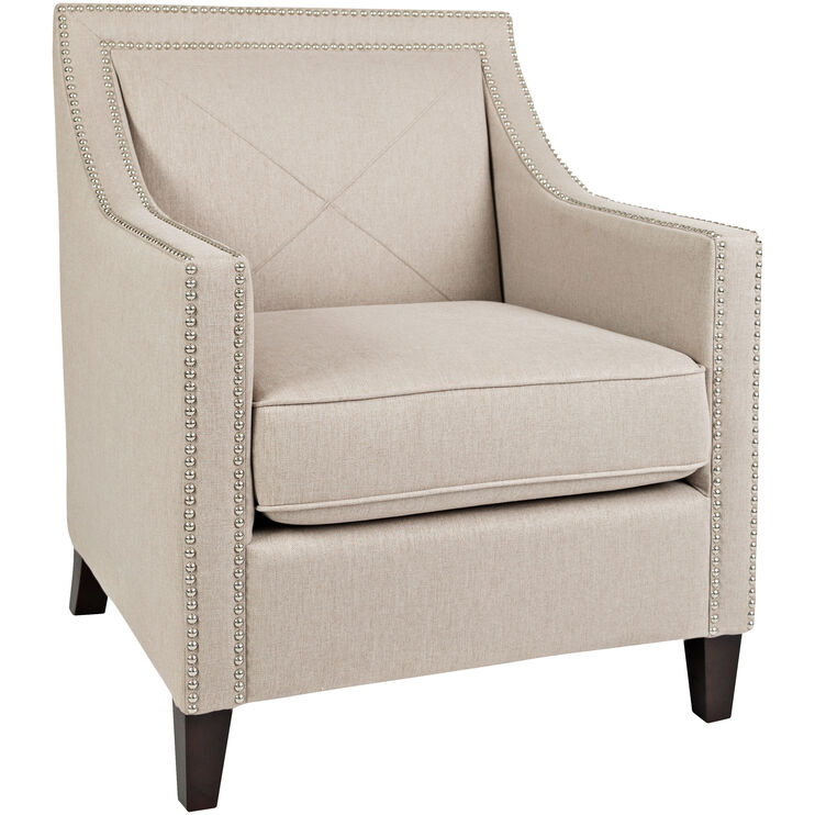 Princeton Taupe Accent Chair