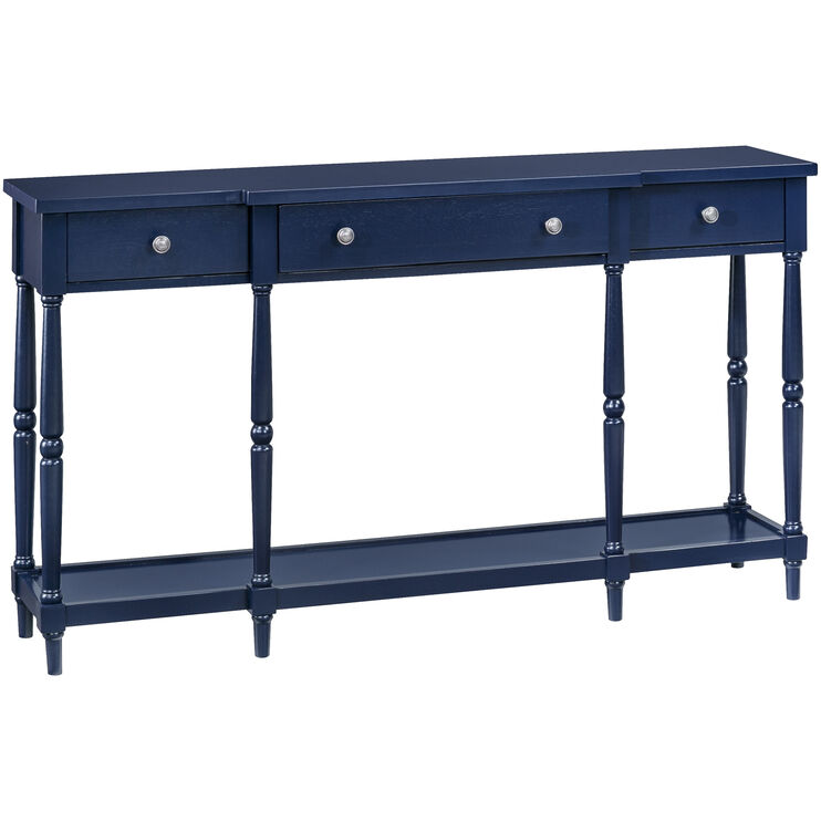 Stately Home Navy Console Table