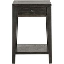 Autumn Oaks II Black Open Drawer End Table