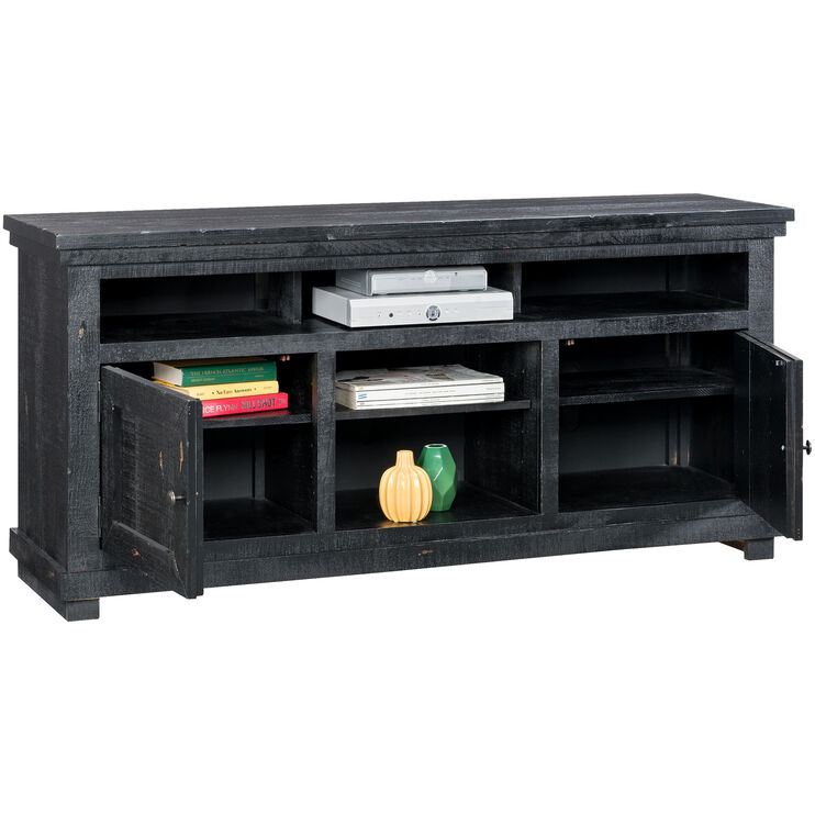 Willow Distressed Black 64 Inch Console