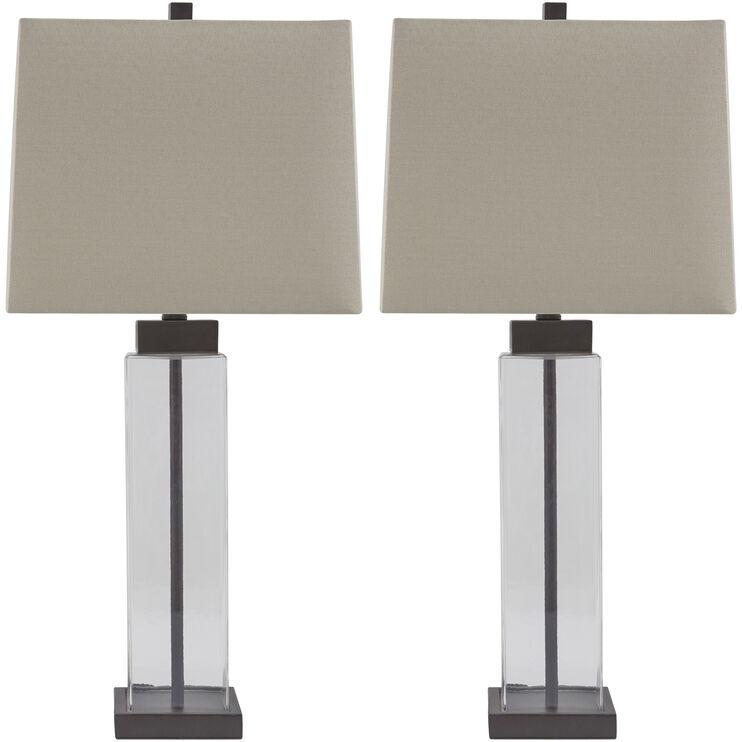 Alvaro Set of 2 Glass Table Lamps