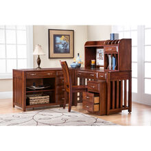 Hampton Bay Cherry 5 Piece Corner Desk