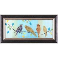 Bird Chat I Framed Art