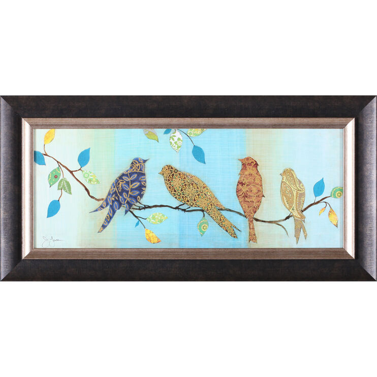 Bird Chat I Framed Art