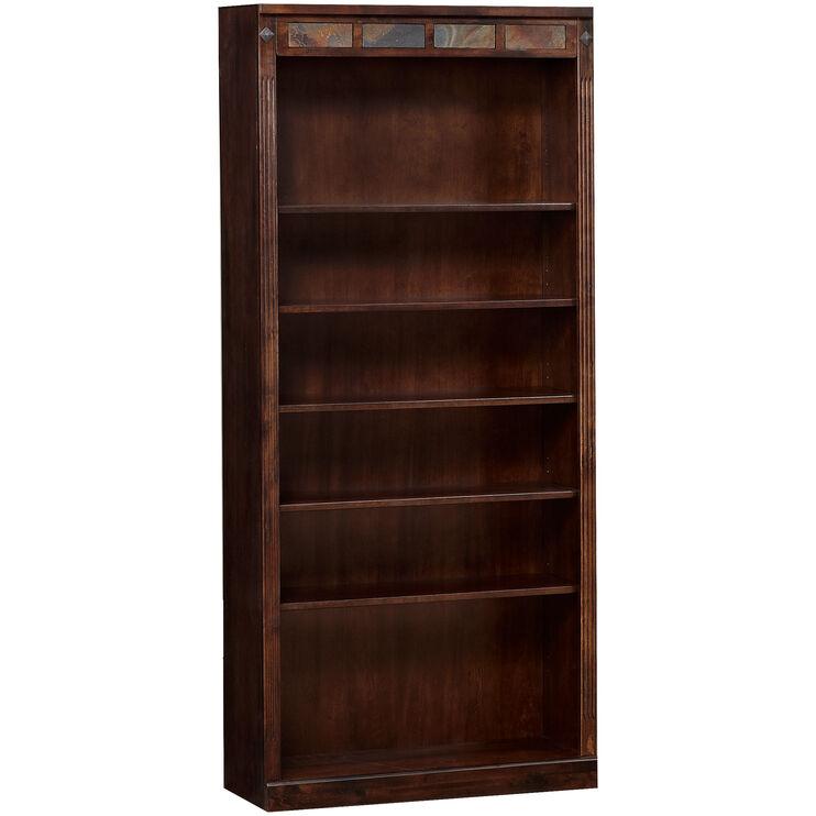 Sante Fe 72 Inch Dark Chocolate Bookcase