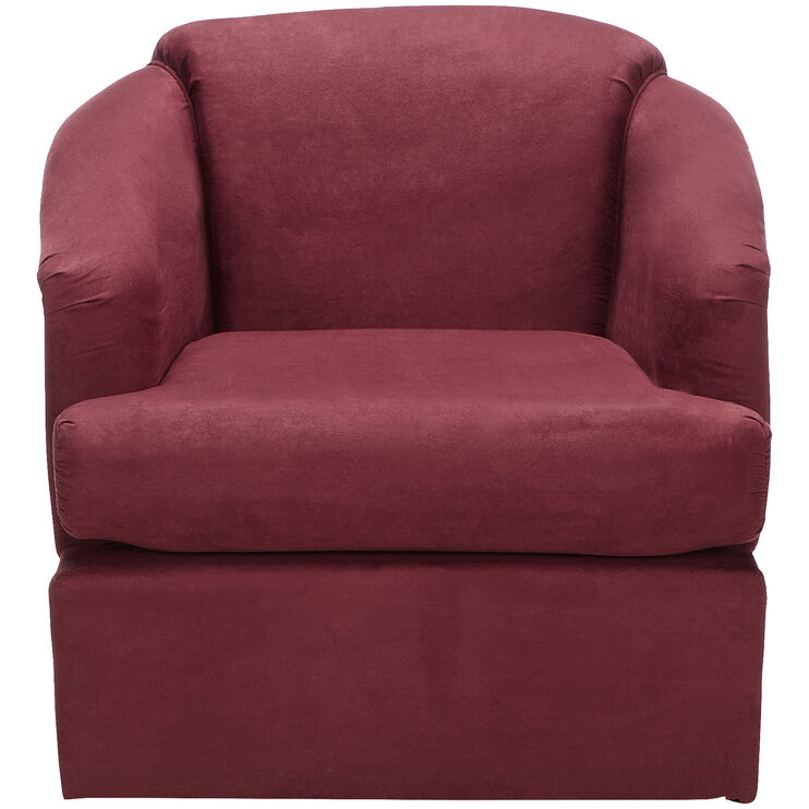 Cass Crimson Swivel Chair