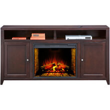 "Lockwood 70"" Mocha Hiboy Fireplace Cons"