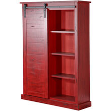 Sante Fe Red Barn Door Bookcase