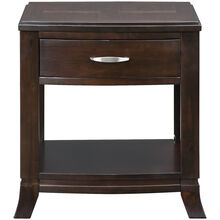 Downtown Merlot End Table