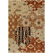 Heritage Kilim Patch Red Abstract 5x8 Rug