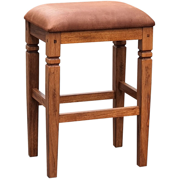 Sedona Rustic Oak 30 Inch Backless Bar Stool