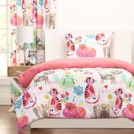 Crayola Purrty Cat 3 Piece Full/Queen Comforter Set