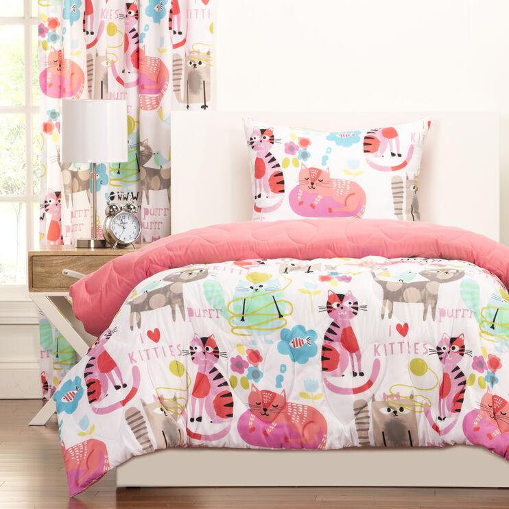 Crayola Purrty Cat 4pc Full/Queen Comforter Set