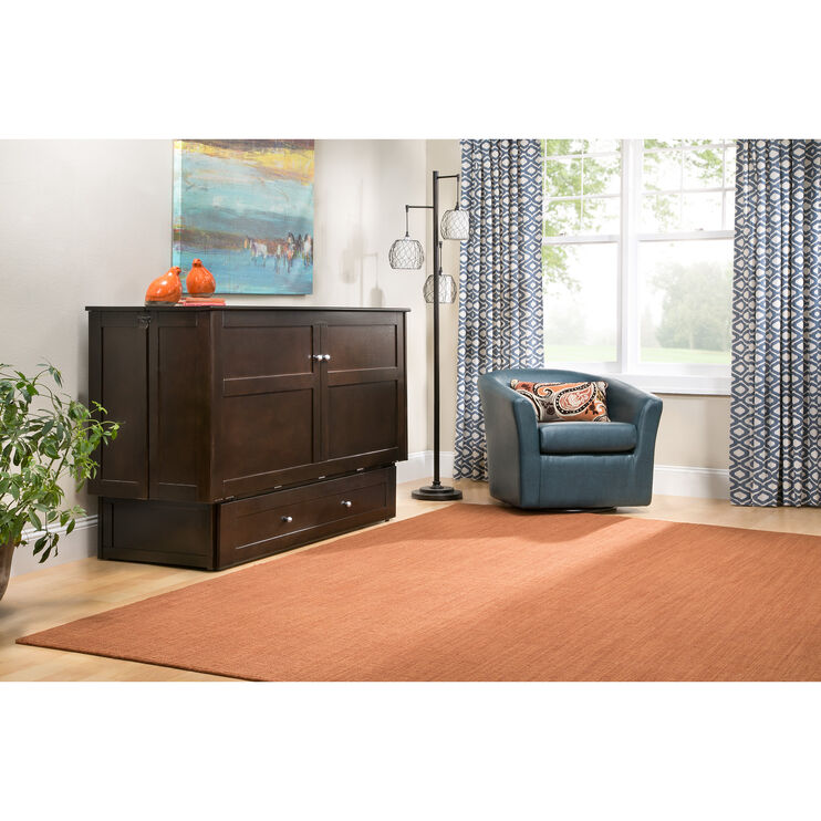 Clover Chocolate Cabinet Bed