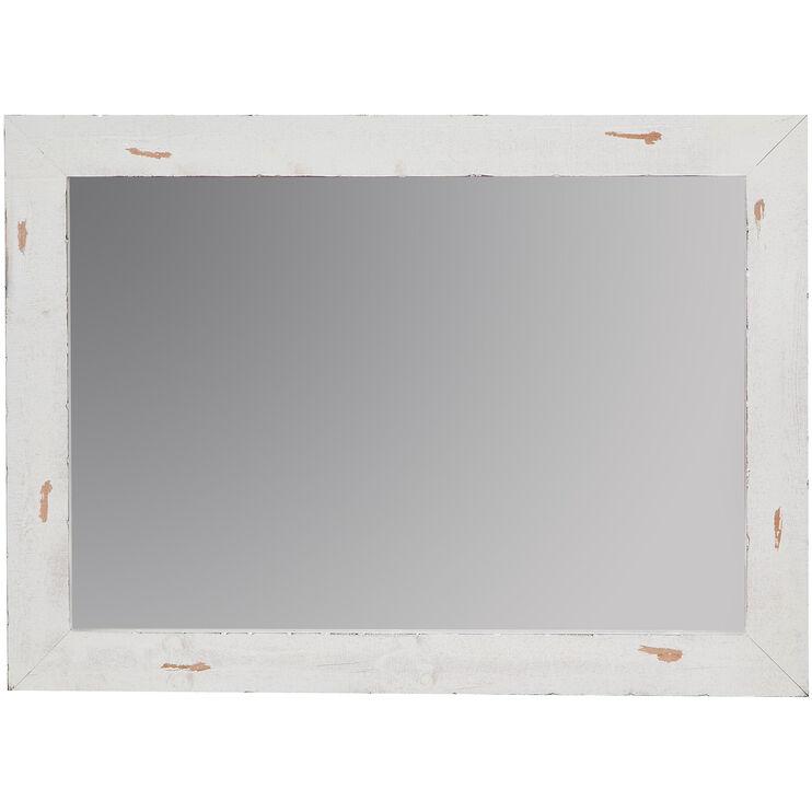 Willow Distressed White Mirror