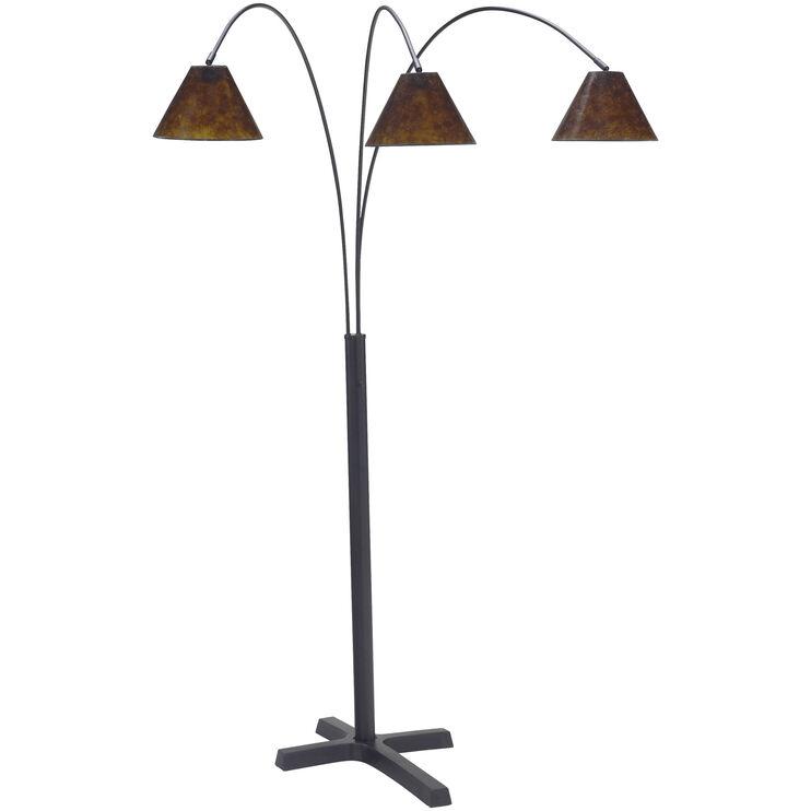 Townsend 3 Head Mica Arch Lamp