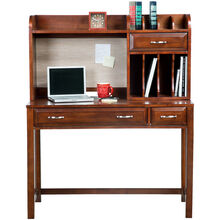 Hampton Bay Cherry Desk with Hutch