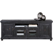 Willow Distressed Black 74 Inch Console