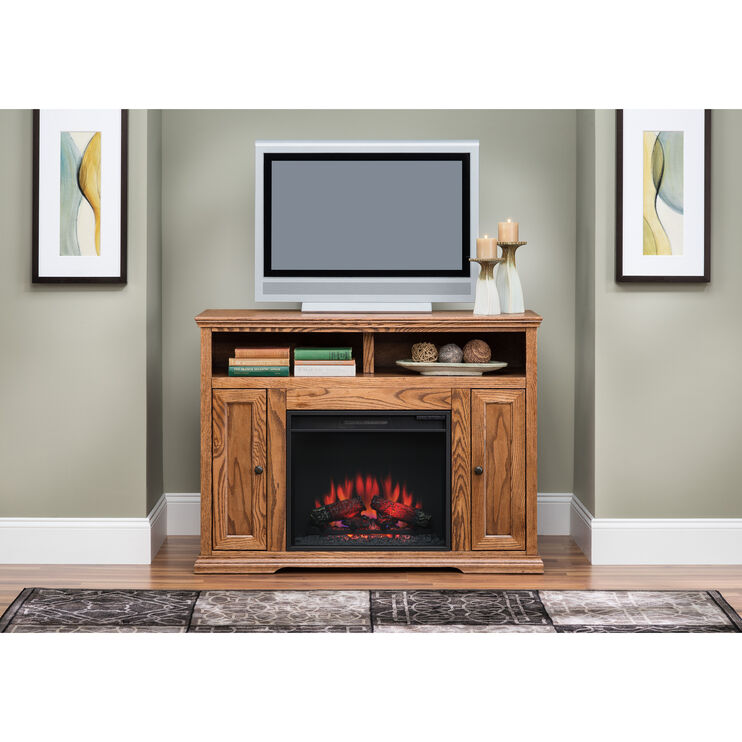 Chambers Golden Oak 48 Inch Fireplace Console