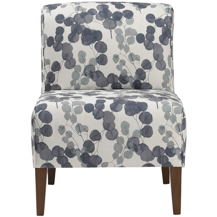 Enjoyable Rolan Indigo Armless Accent Chair Slumberland Furniture Gmtry Best Dining Table And Chair Ideas Images Gmtryco