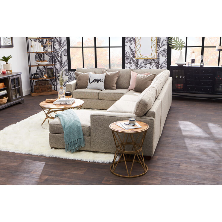 Rise Gray 3 Piece Right Sectional Slumberland Furniture