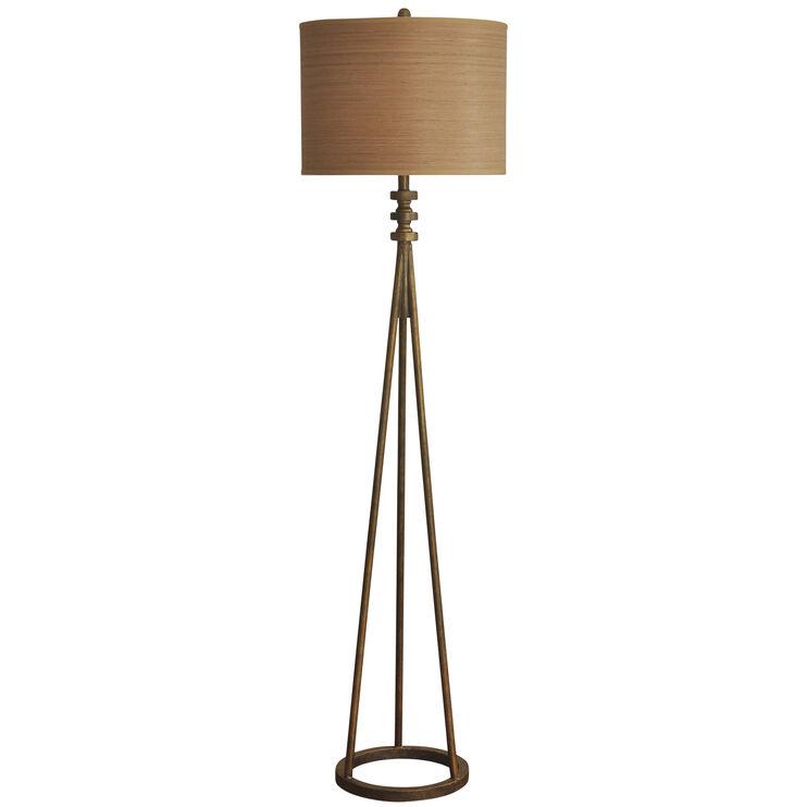 Millbrook Antique Brass Metal Floor Lamp
