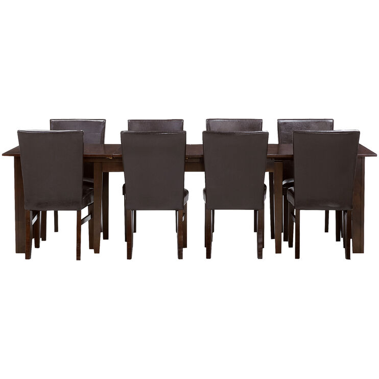 Kona Raisin 9 Piece 130 Inch Parson Dining Set