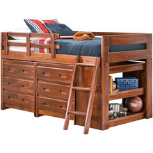 Ashville Chocolate Drawer Loft Bed