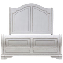 Magnolia Manor White Queen Sleigh Bed