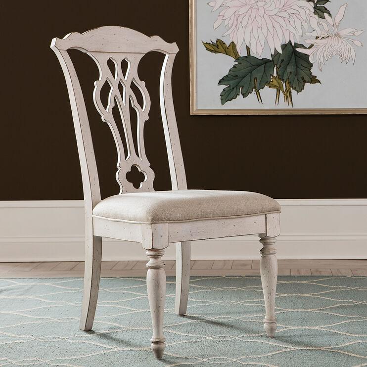 Abbey Road White Splat Back Side Chair